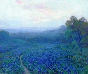 穿过一片矢车菊地_Path Through a Field of Bluebonnets-朱利安·昂德登克
