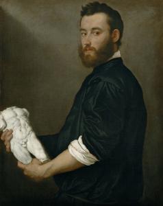 雕刻家亚历山德罗·维多利亚_The Sculptor Alessandro Vittoria-乔凡尼·巴蒂斯塔·莫罗尼
