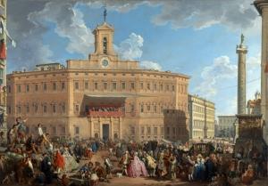 蒙特西托里奥广场的彩票_The Lottery in Piazza di Montecitorio-乔瓦尼·保罗·帕尼尼