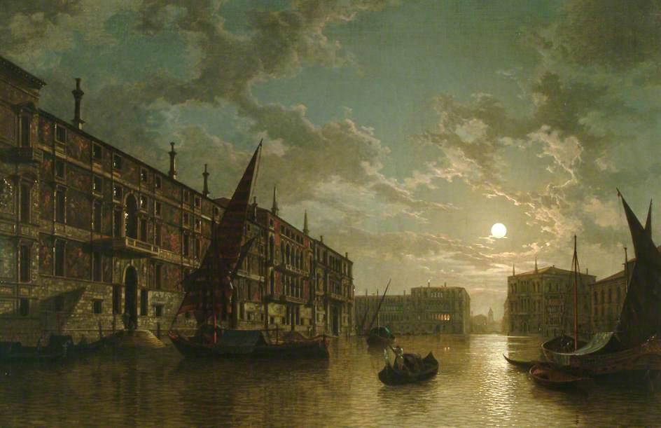 威尼斯在月光下_Venice by Moonlight-亨利·佩特