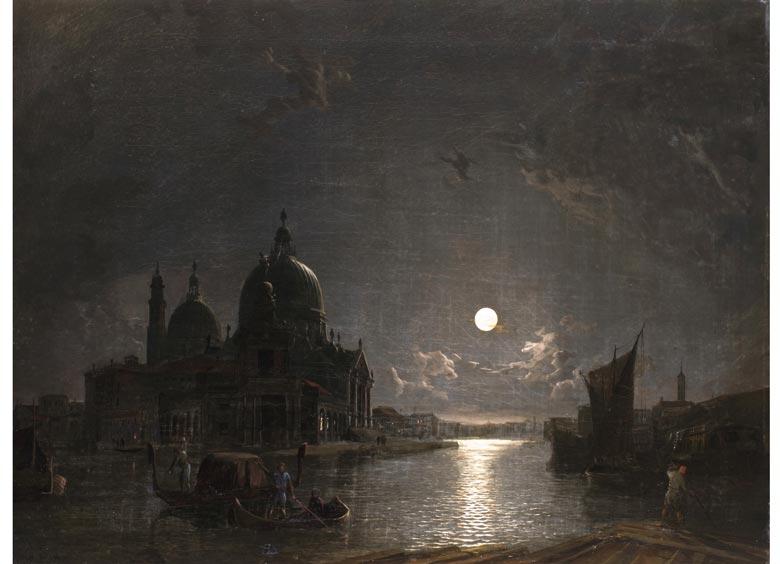威尼斯在月光下_Venice in Moonlight-亨利·佩特