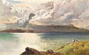乌云笼罩着斯凯岛_Clouds breaking over the Isle of Skye-西德尼·理查德·珀西