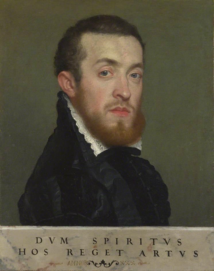 一幅有题词的青年半身像(贝加莫的卢皮伯爵)_Bust Portrait of a Young Man with an Inscription (Count Lupi of Bergamo)-乔凡尼·巴蒂斯塔·莫罗尼