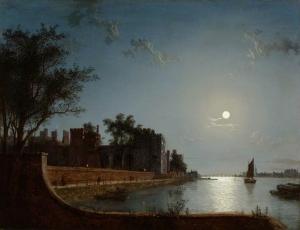 月光下的兰贝斯宫_Lambeth Palace by Moonlight-亨利·佩特