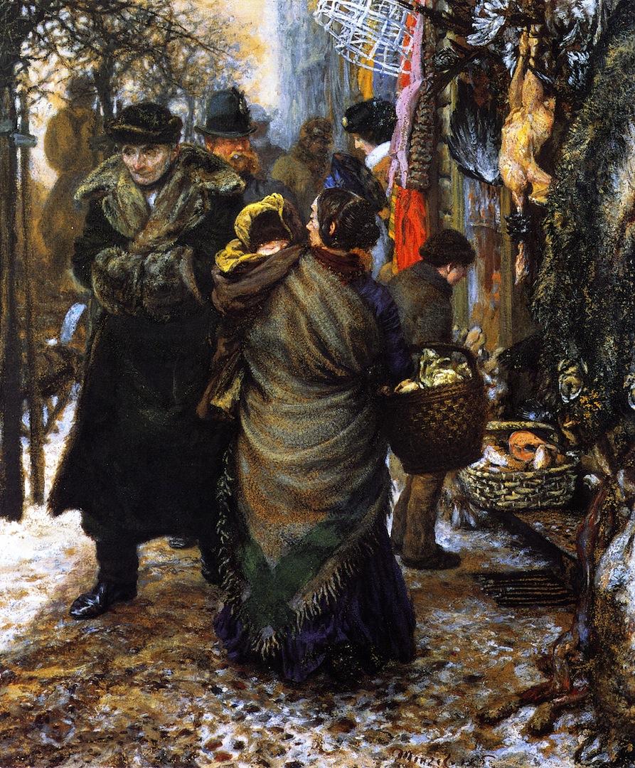 冬天的市场